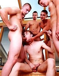 Two guys Joseph and Savkov take gay lad from...